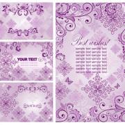 Link toElegant ornaments floral background vector 01 free