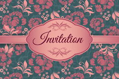 Link toElegant patterned invitations vector