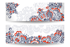 Link toElegant patterns banner vector