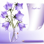 Link toElegant purple flower background art vector 02 free