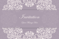 Link toElegant purple patterns party invitation card vector