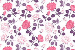 Elegant rose flower vector seamless background