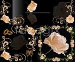 Link toElegant rose lace background vector