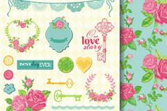 Link toElegant rose wedding flowers element vector