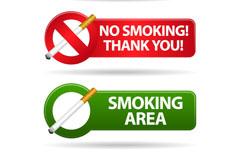 Link toElegant smoking tips stickers vector