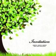 Link toElegant tree background vector 01
