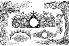 Link toElegant vintage black lace patterns vector
