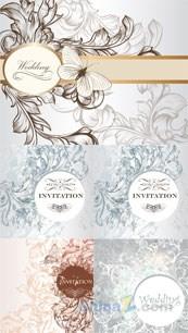 Link toElegant wedding invitation card vector design