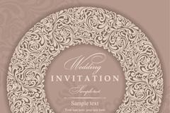 Link toElegant wedding invitation card vector