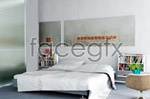 Link toElegant white bedroom 3d model