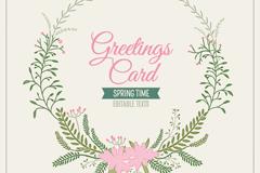 Link toElegant wreath card vector