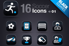 Link toElement 16 football icon vector