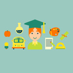 Link toElements of campus icons vector