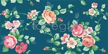 Link toElements of chinese fine brushwork painting of traditional flowers leaves psd