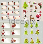 Link toElements of christmas stickers vector
