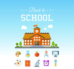 Link toElements of color campus vector