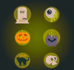 Link toElements of halloween icons vector