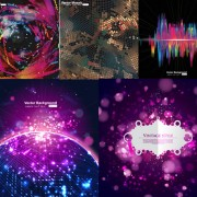 Link toElements of technology 3 dimensional background vector