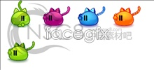Elf kittens desktop icons
