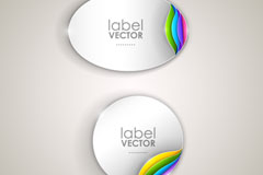 Link toElliptic rounded corners sticker vector