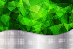 Emerald green metallic background vector