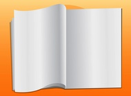 Empty book vector free