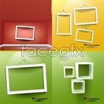 Link toEmpty white frames vector