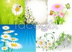 Enchanting flowers bloom vector