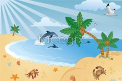 Link tovector scenery seaside Enchanting