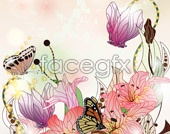Link toillustration vector in bushes butterfly of End