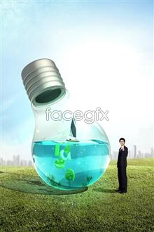 Link toEnergy-saving environmental protection public service poster psd