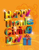 English thanksgiving fonts vector