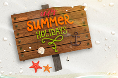 Link toEnjoy summer vacation vector background