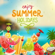 Link toEnjoy tropical summer holidays backgrounds vector 04 free