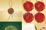 Link toEnvelope and seal, vector
