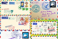 Link toEnvelopes and postmarks vector elements