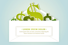Link toEnvelopes of currency symbol vector