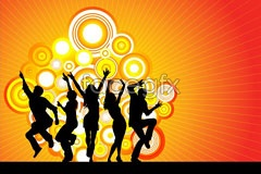 Link toEps format people silhouette vector current dance