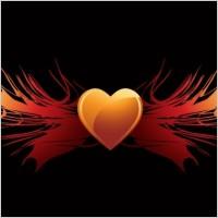 Link toEps vector flaming heart wings
