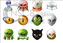 icons clear most alien Et