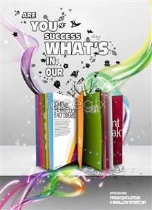 Link topsd design poster trendy colorful and Europe