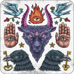 Link toEurope, evil tattoo designs vector