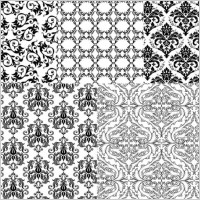 Link toEuropean background of black and white pattern vector