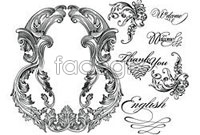 Link toEuropean beautiful monochrome pattern vector 4