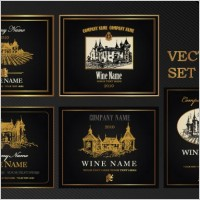 Link toEuropean classic pattern bottle label affixed 02 vector
