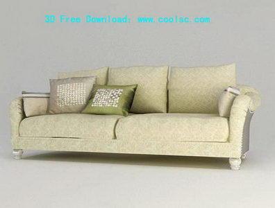 Link toEuropean fabric sofa 3d model grid (including materials)