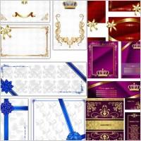 Link toEuropean fine card background vector