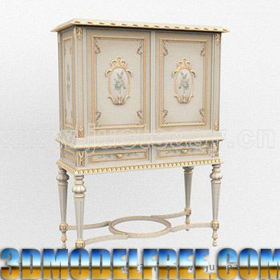 Link toEuropean furniture model: victorian carved cupboard 3d model