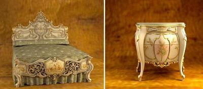 Link toEuropean furnitures models�� bed and side cabinet 3d model