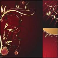Link toEuropean gold flower pattern vector